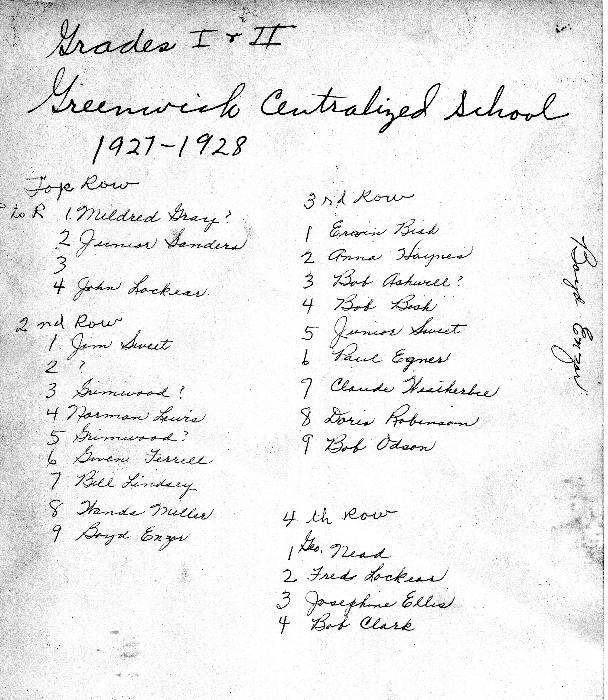 1927-28  GCS  Grades 1 & 2  2